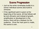 scene progression