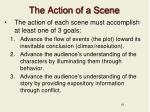 the action of a scene