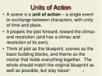 units of action
