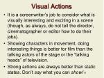 visual actions