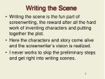 writing the scene