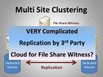 multi site clustering