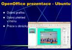 openoffice prezentace ubuntu