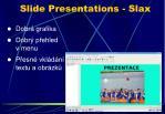 slide presentations slax