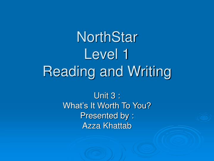 northstar level 1 reading and writing n.