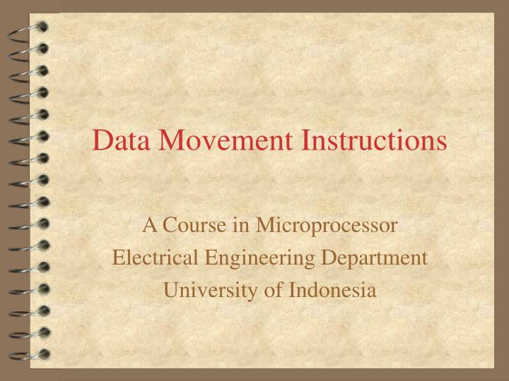 data movement instructions n.