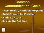 common communication goals