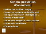 general population consumers