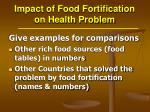 impact of food fortification on health problem