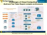 challenges of cloud computing build and test tasks require complex environments