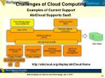 challenges of cloud computing examples of current support abicloud supports saas