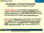 challenges of cloud computing examples of current support for iaas