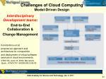 challenges of cloud computing model driven design