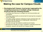 making the case for campus clouds1