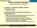 what is cloud computing cluster and grid computing