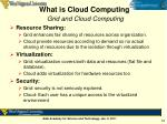 what is cloud computing grid and cloud computing