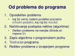 od problema do programa