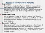 impact of poverty on parents