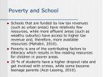 poverty and school
