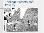 teenage parents and poverty