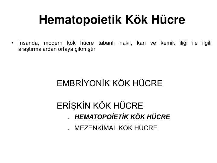 Hematopoietik Kök Hücre