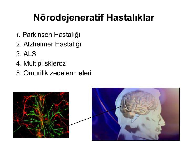 Nörodejeneratif Hastalıklar