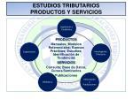 estudios tributarios productos y servicios