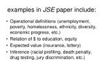 examples in jse paper include