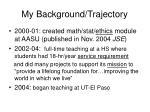 my background trajectory