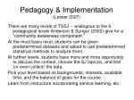 pedagogy implementation lesser 2007
