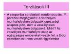 torz t sok iii