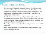 header linked lists contd1