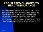 legislated changes to health insurance