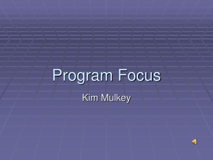 program focus n.