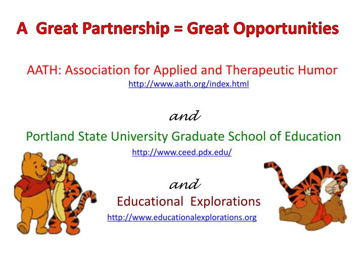 a great partnership great opportunities n.