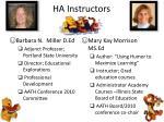 ha instructors