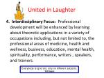 united in laughter