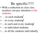 be specific1