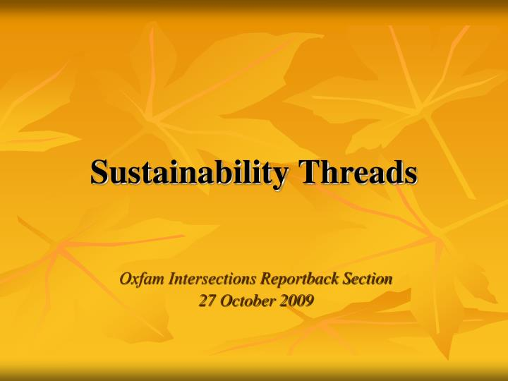 sustainability threads n.