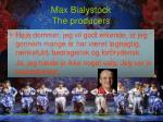 max bialystock the producers