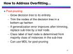 how to address overfitting1