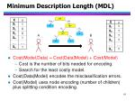 minimum description length mdl