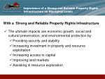 importance of a strong and reliable property rights infrastructure on aboriginal lands11
