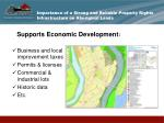importance of a strong and reliable property rights infrastructure on aboriginal lands7