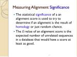 measuring alignment significance