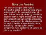 note om amerika
