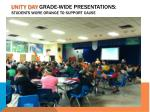 unity day grade wide presentations students wore orange to support cause