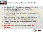 interoperability conformance specifications