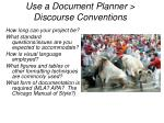 use a document planner discourse conventions