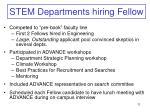 stem departments hiring fellow